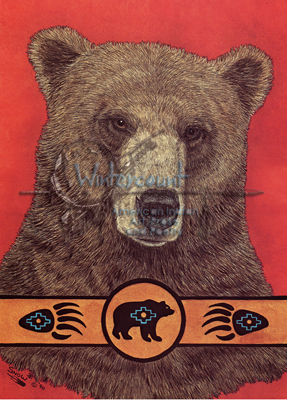 Bear Clan Spirit Carol Snow Native American Wildlife