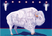 Sacred white one, white buffalo painting