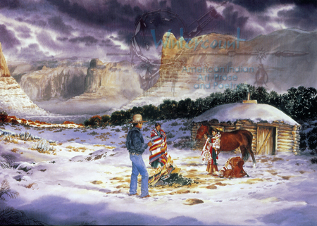 Blessings of Dawn   Native American Christmas Card   wintercount.com