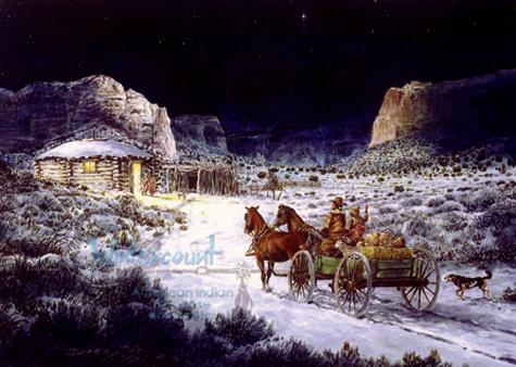 Navajo Homecoming   Mark Silversmith  holiday Card